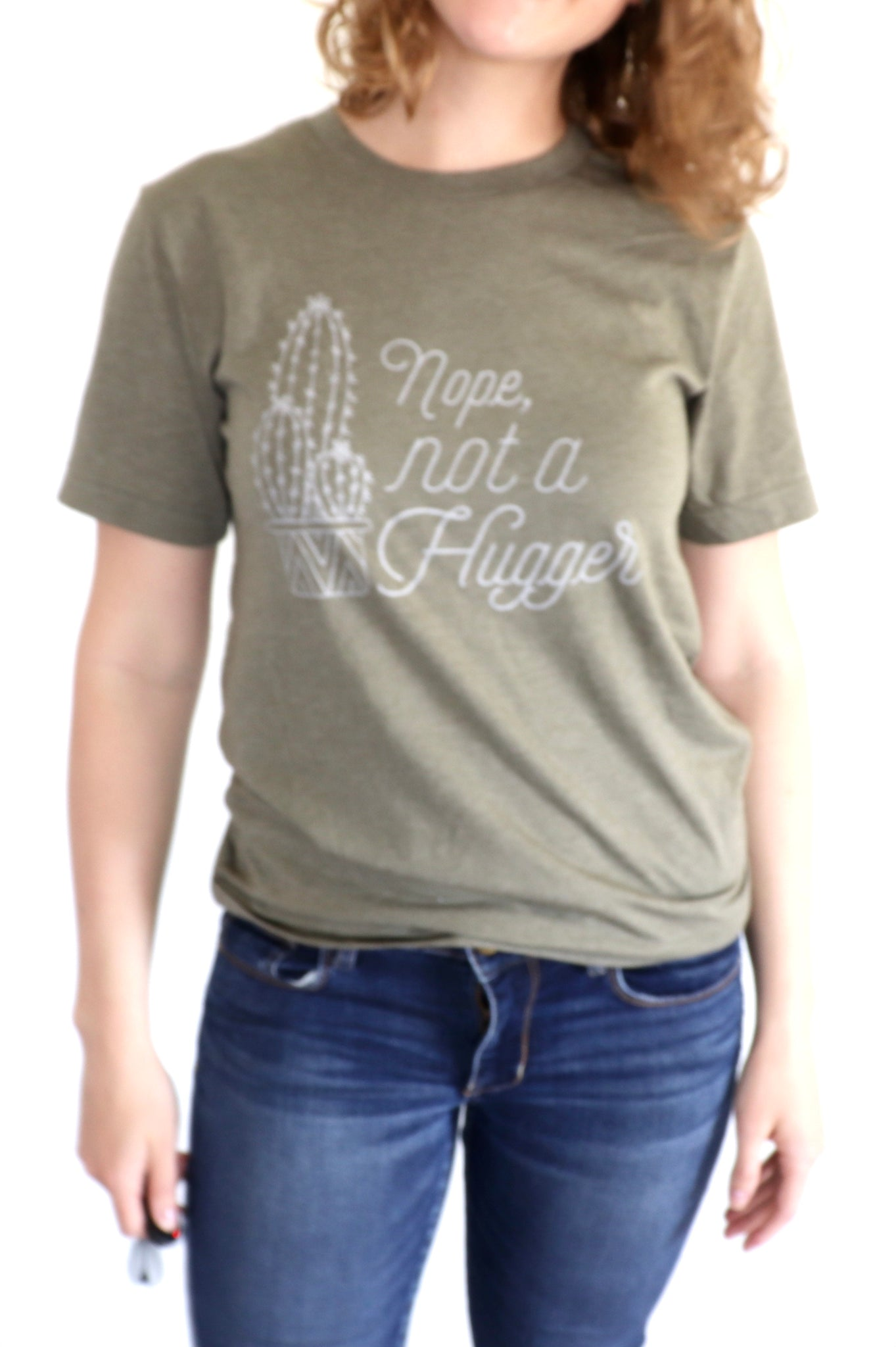 NOPE NOT A HUGGER T-SHIRT (WHSL)
