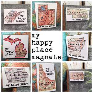 MY HAPPY PLACE MAGNETS