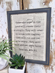 ISAIAH 40:31 DICTIONARY PRINT (WHSL)