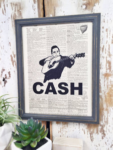 JOHNNY CASH DICTIONARY PRINT (WHSL)