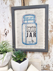 MASON JAR DICTIONARY PRINT