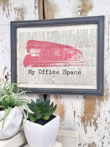 MY OFFICE SPACE DICTIONARY PRINT (WHSL)