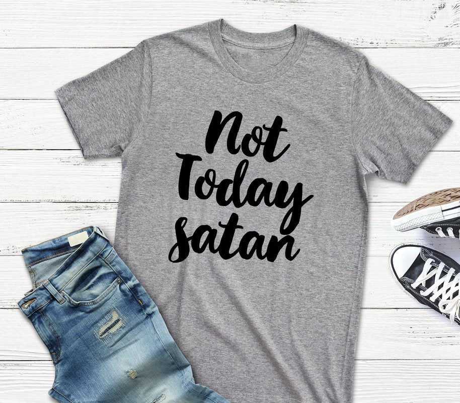 NOT TODAY SATAN T-SHIRT (WHSL)