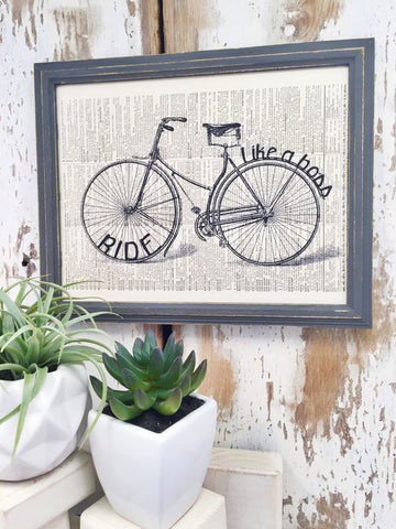 RIDE LIKE A BOSS DICTIONARY PRINT (WHSL)