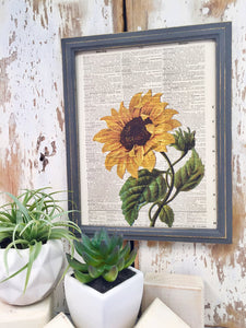 SUNFLOWER DICTIONARY PRINT
