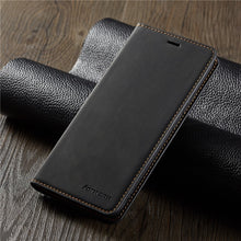 Load image into Gallery viewer, Leather Magnetic Flip Case for iPhone
