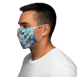 Load image into Gallery viewer, Icy Depths Snug-Fit Polyester Face Mask