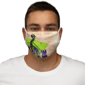 Load image into Gallery viewer, Enchanted Blossoms: Gratitude Snug-Fit Polyester Face Mask