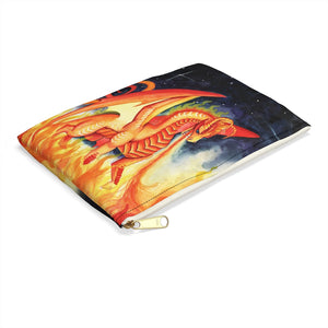 Load image into Gallery viewer, Dragon Oracle Fire Dragon Accessory Pouch