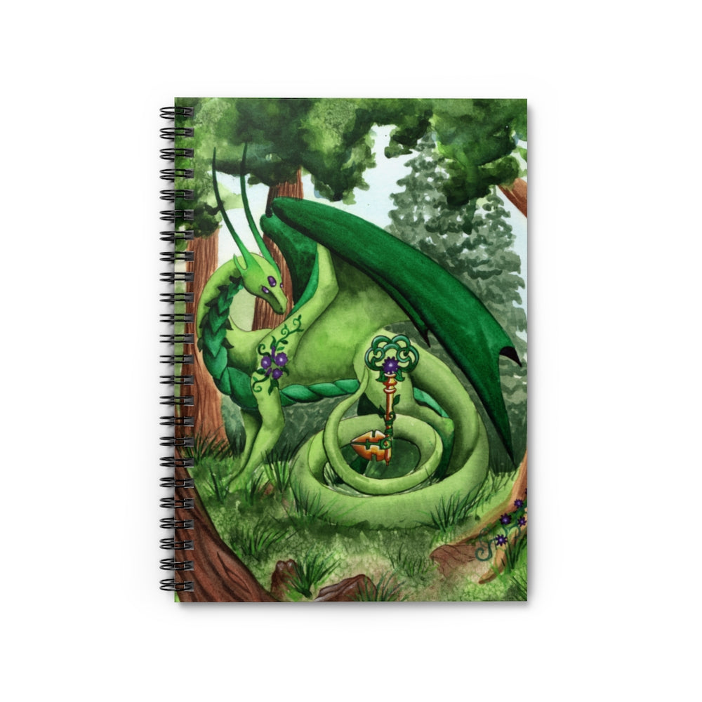 Dragon Oracle: Green Dragon Spiral Notebook - Ruled Line