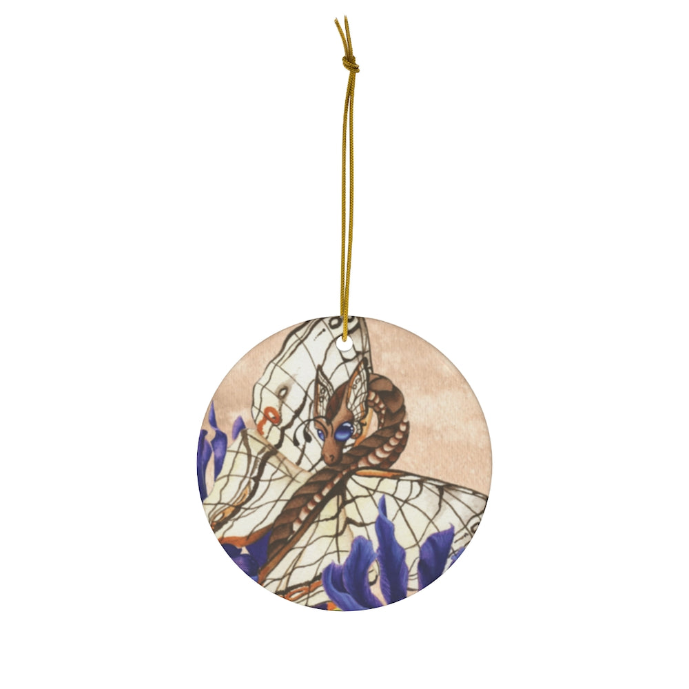 Load image into Gallery viewer, Enchanted Blossoms Wisdom Dragon Ceramic Ornament