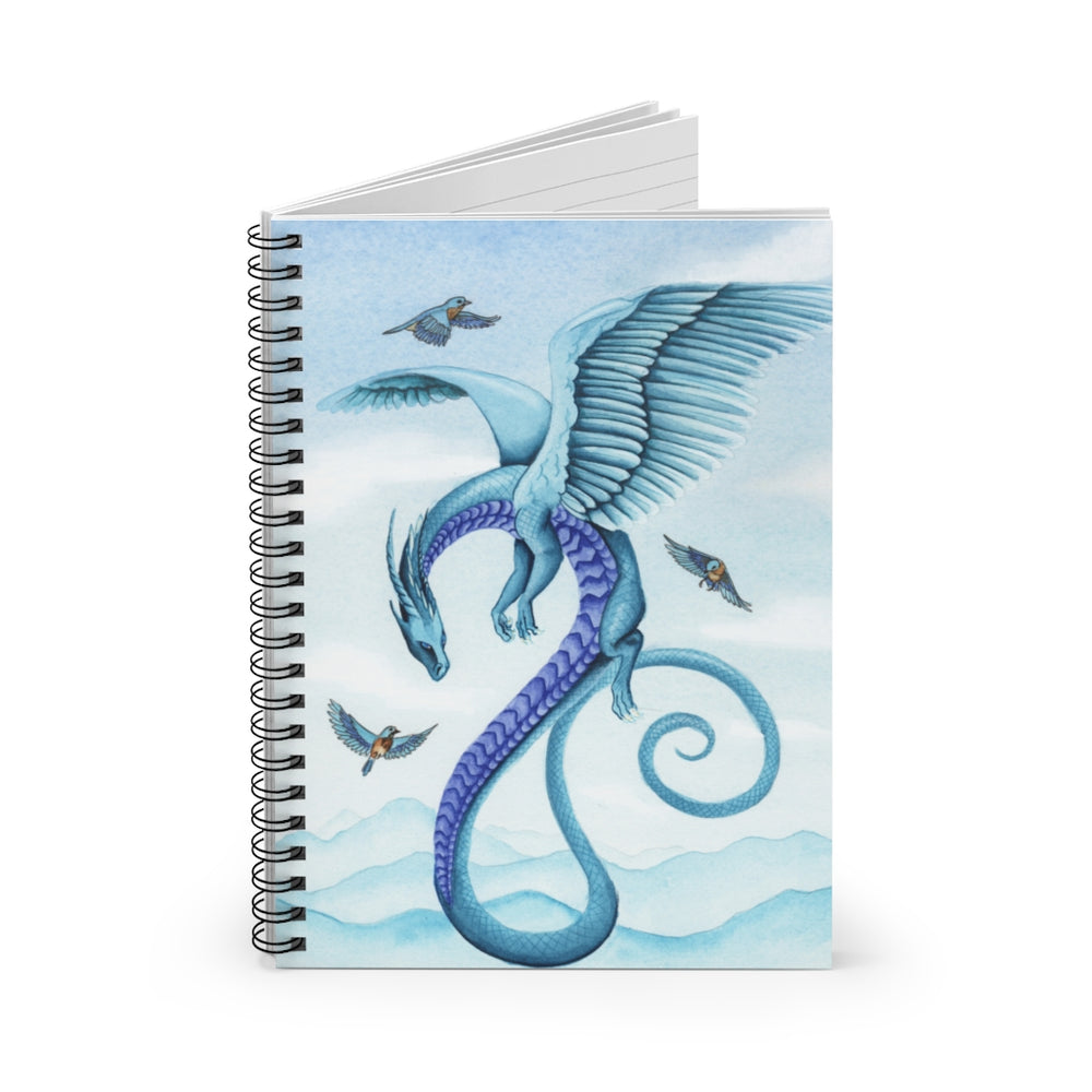Load image into Gallery viewer, Dragon Oracle: Air Dragon Spiral Notebook - Ruled Line