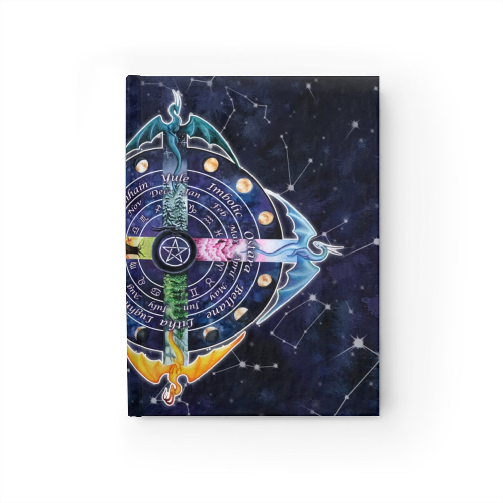 Wheel of the Year Witches Calendar Unlined Journal