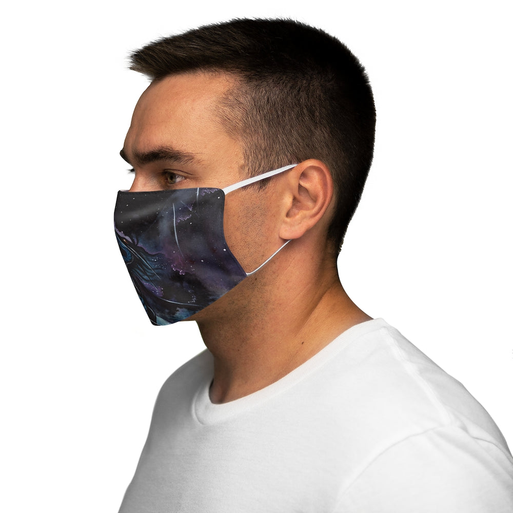 Load image into Gallery viewer, Carried by Darkness Snug-Fit Polyester Face Mask