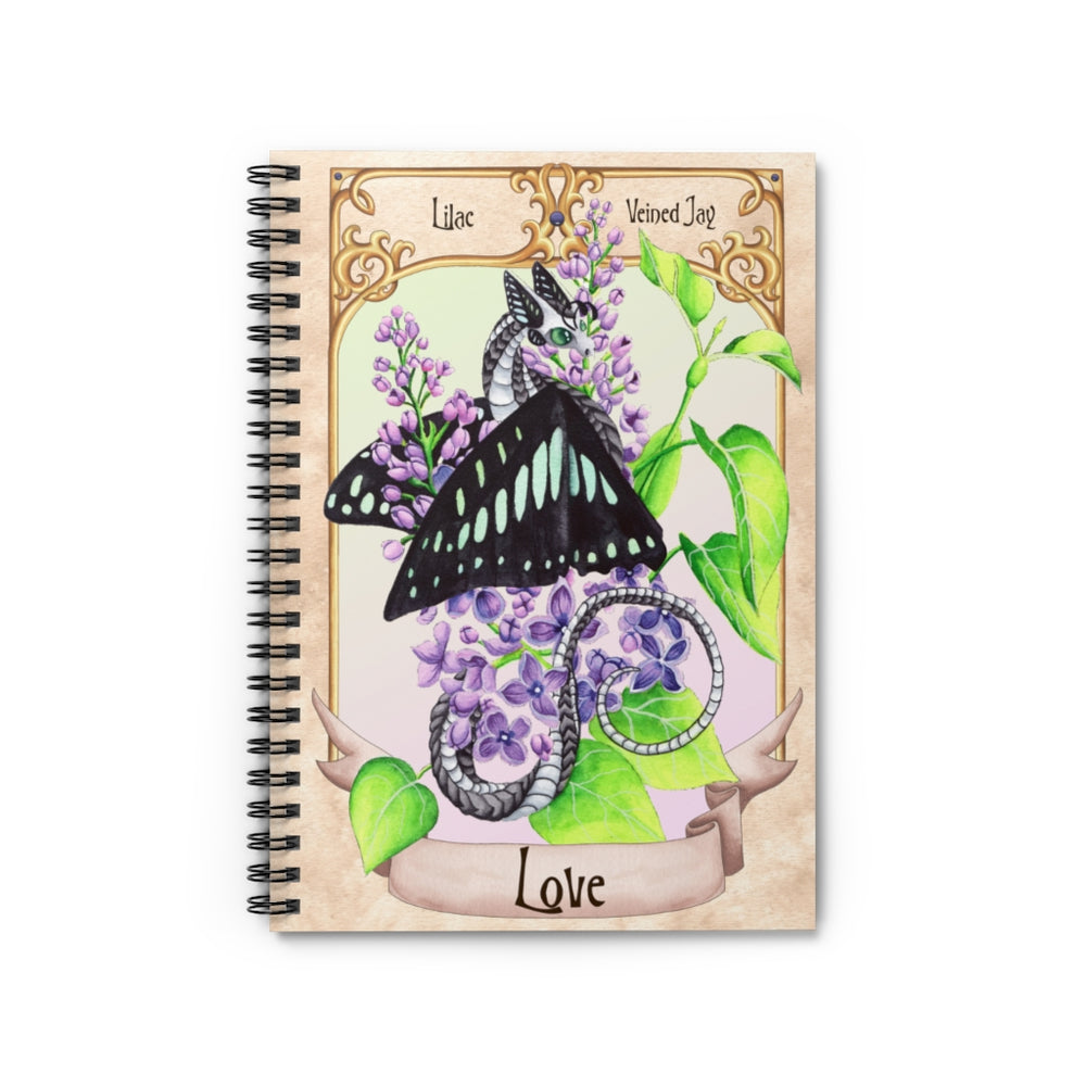 Enchanted Blossoms: Love Dragon Spiral Notebook - Ruled Line