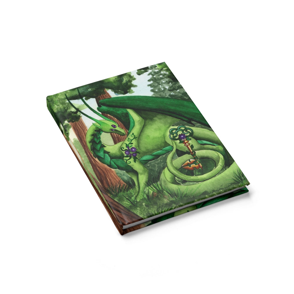 Load image into Gallery viewer, Dragon Oracle: Green Dragon Unlined Journal