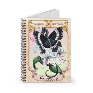 Load image into Gallery viewer, Enchanted Blossoms: Generosity Dragon Spiral Notebook - Ruled Line
