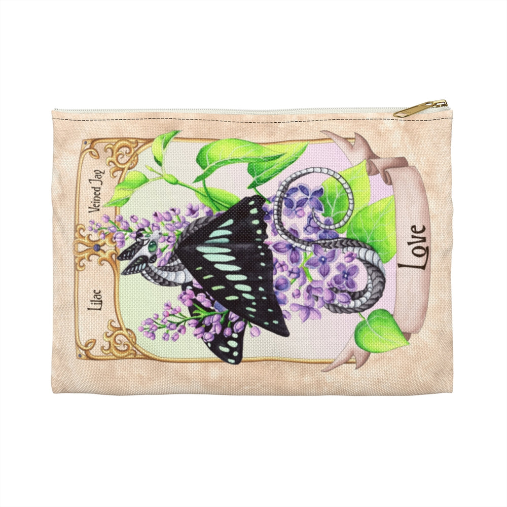 Enchanted Blossoms: Love Dragon Accessory Pouch