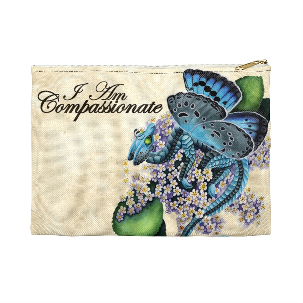 Enchanted Blossom I am Compassionate Accessory Pouch