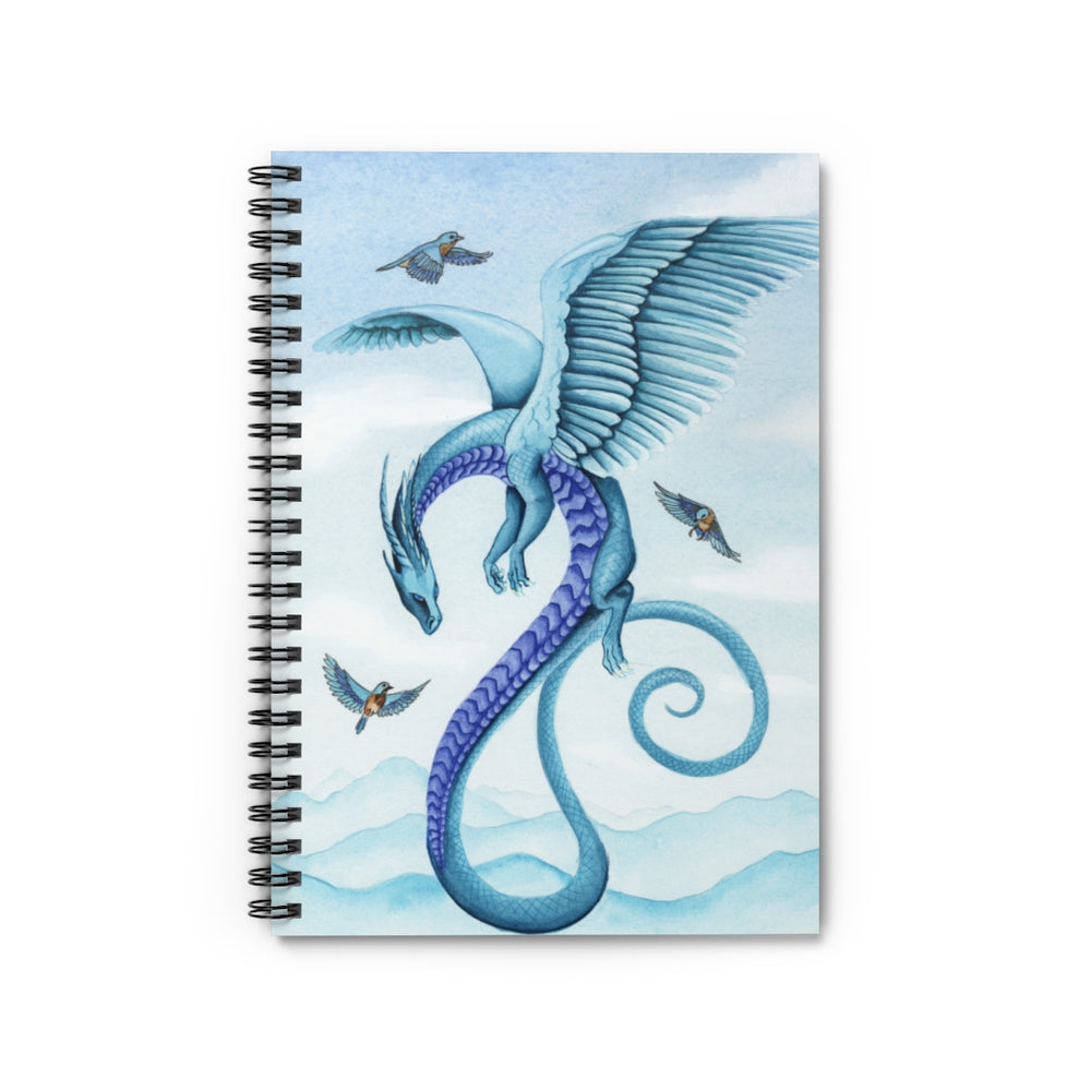 Dragon Oracle: Air Dragon Spiral Notebook - Ruled Line