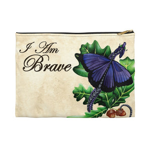 "Load image into Gallery viewer, Enchanted Blossoms ""I am Brave"" Accessory Pouch"