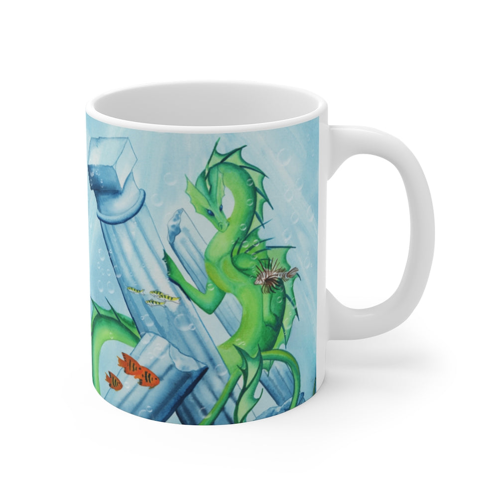 Load image into Gallery viewer, Dragon Oracle: Water Dragon 11oz Mug
