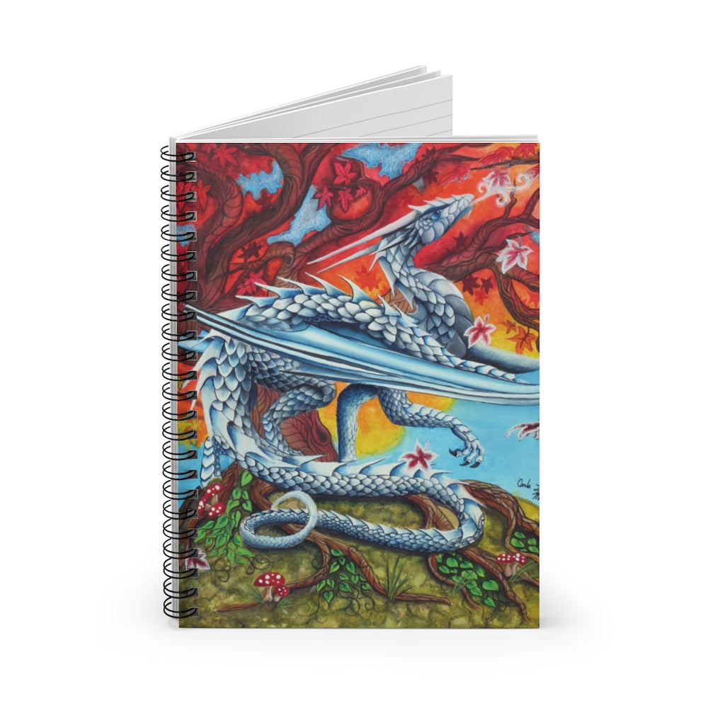 Load image into Gallery viewer, First Breath of Winter Spiral Notebook - Ruled Line