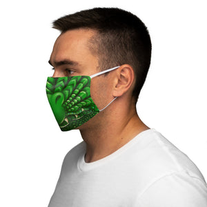 Load image into Gallery viewer, Green Dragon Snout Snug-Fit Polyester Face Mask