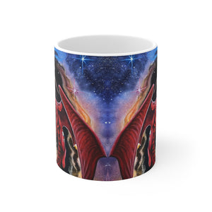 Load image into Gallery viewer, Watcher at the Divine Gateway 11oz Mug