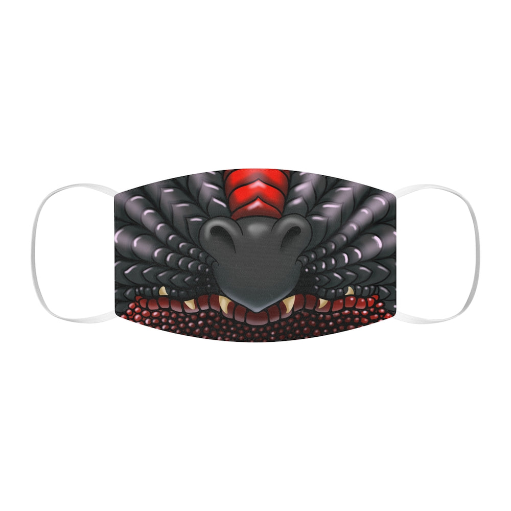 Black and Red Two Color Dragon Snout Snug-Fit Polyester Face Mask