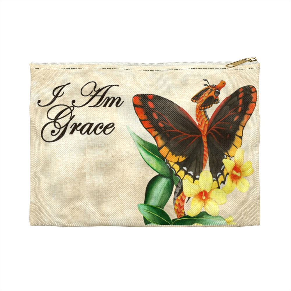 Enchanted Blossoms: I am Grace Dragon Accessory Pouch