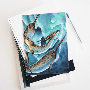 Load image into Gallery viewer, Icy Depths Narwhal Dragon Rule Lined Journal