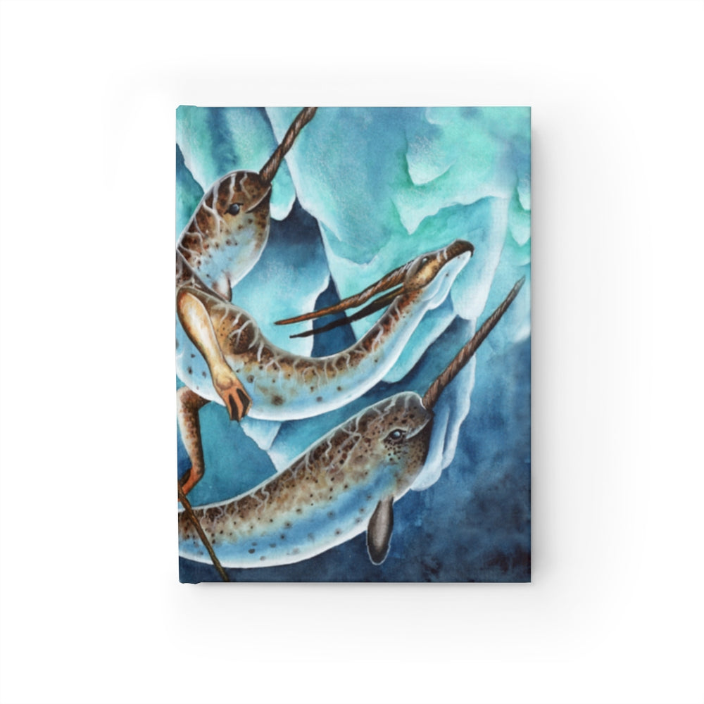 Icy Depths Narwhal Dragon Rule Lined Journal
