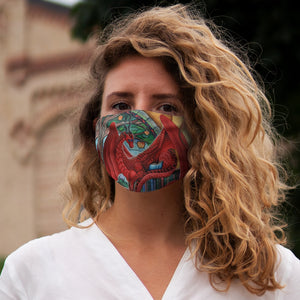Load image into Gallery viewer, Watcher at the Gateway of Knowledge Snug-Fit Polyester Face Mask