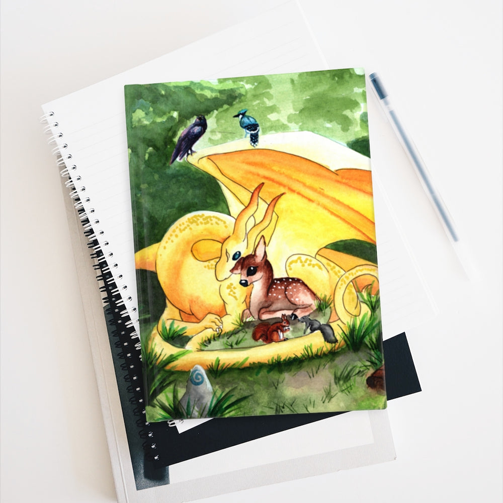 Load image into Gallery viewer, Dragon Oracle: Sunshine Yellow Dragon Rule Lined Journal