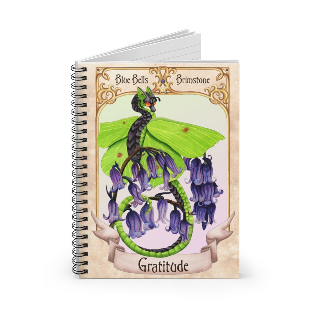 Load image into Gallery viewer, Enchanted Blossoms: Gratitude Dragon Spiral Notebook - Ruled Line