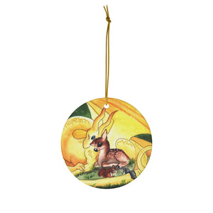 Load image into Gallery viewer, Dragon Oracle Sunshine Yellow Dragon Ceramic Ornaments