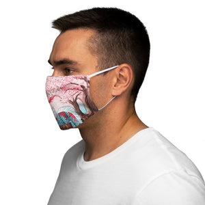 Load image into Gallery viewer, Cherry Blossom Breezes Snug-Fit Polyester Face Mask