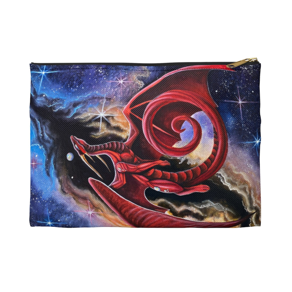 Load image into Gallery viewer, Watcher at the Divine Gateway Dragon Accessory Pouch