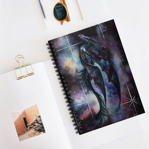 Load image into Gallery viewer, Carried By Darkness Dragon Spiral Notebook - Ruled Line