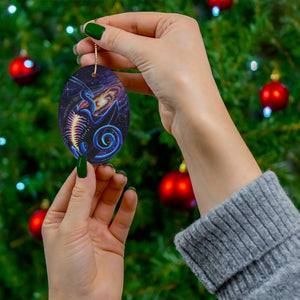 Load image into Gallery viewer, Galactic Entrancement Dragon Ceramic Ornament