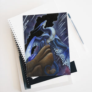 Load image into Gallery viewer, Star Chaser Dragon Unlined Journal