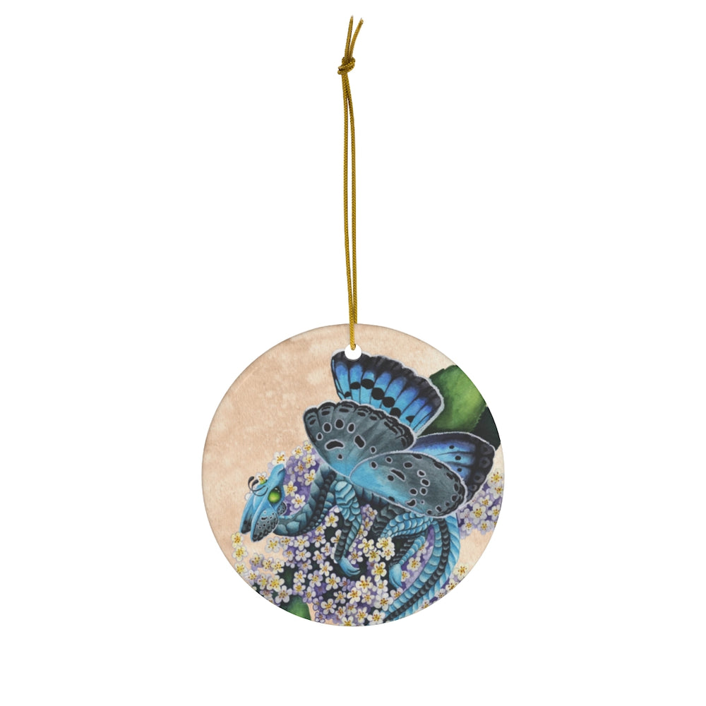 Enchanted Blossoms Compassion Dragon Ceramic Ornament