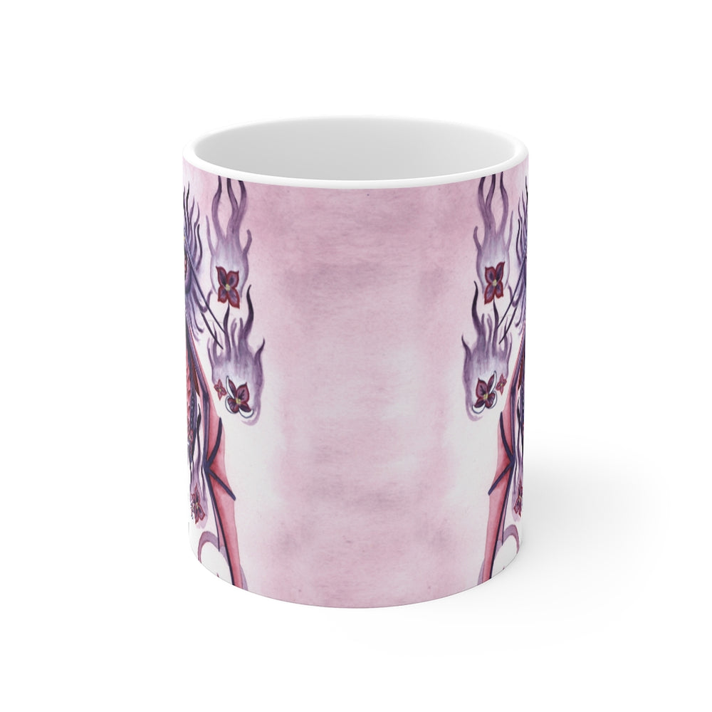 Load image into Gallery viewer, Dragon Oracle: Lilac Fire Dragon 11oz Mug
