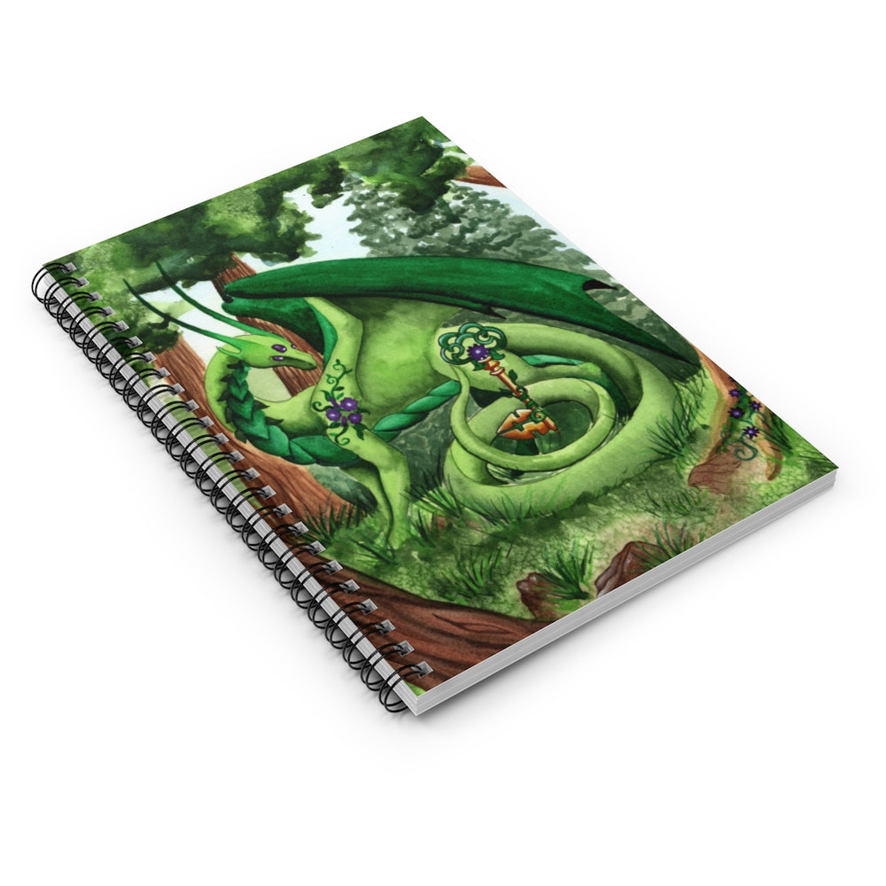 Load image into Gallery viewer, Dragon Oracle: Green Dragon Spiral Notebook - Ruled Line