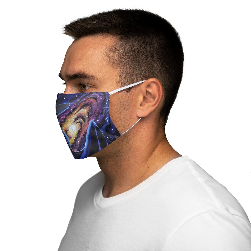 Load image into Gallery viewer, Galactic Entrancement Snug-Fit Polyester Face Mask