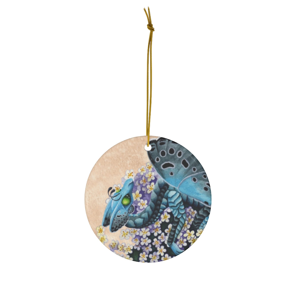 Load image into Gallery viewer, Enchanted Blossoms Compassion Dragon Ceramic Ornament