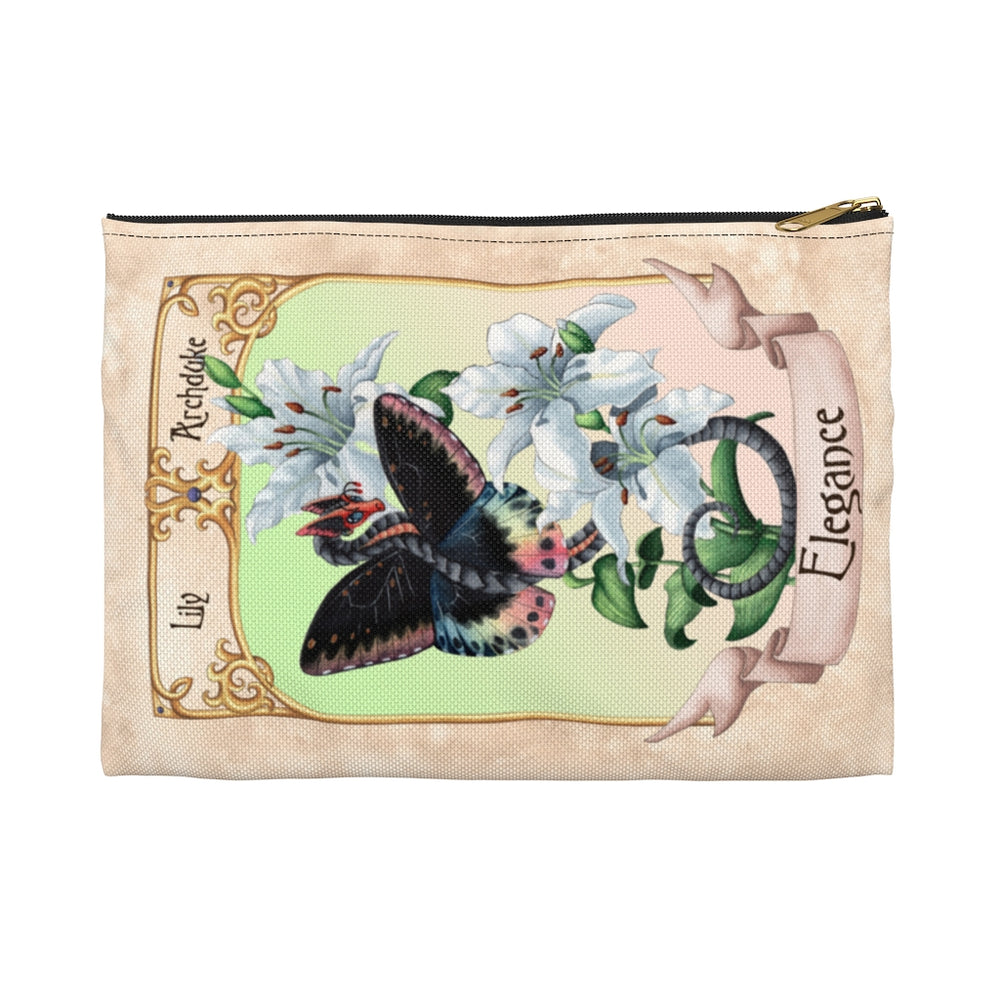 Load image into Gallery viewer, Enchanted Blossoms: Elegance Dragon Accessory Pouch