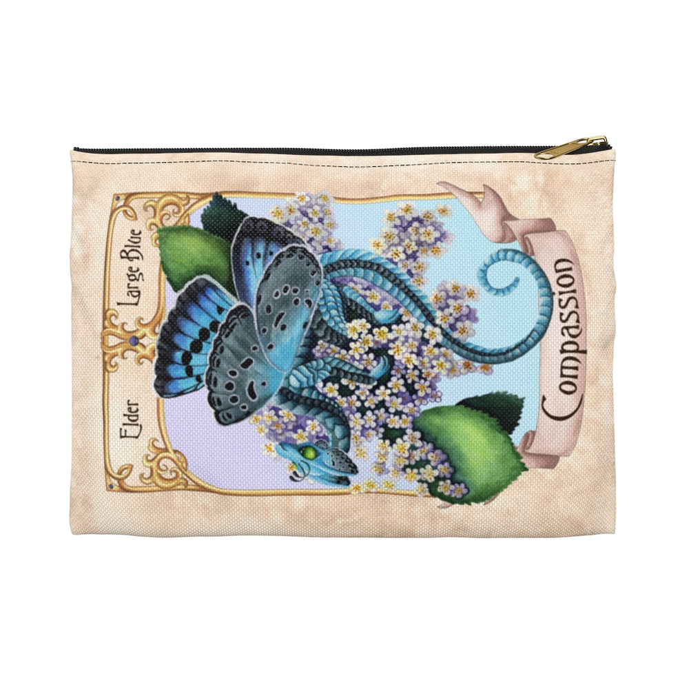 Load image into Gallery viewer, Enchanted Blossoms: Compassion Dragon Accessory Pouch