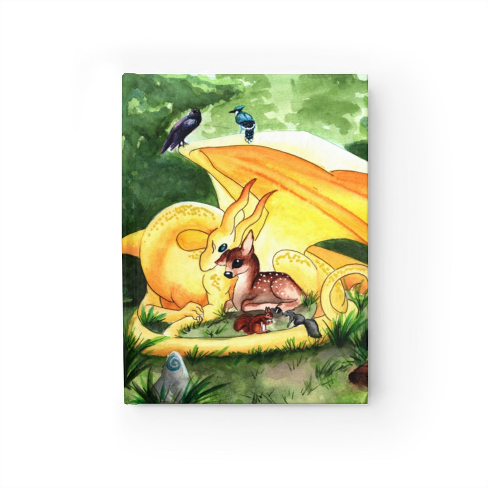 Dragon Oracle: Sunshine Yellow Dragon Rule Lined Journal